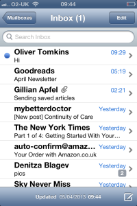 oliver in my inbox